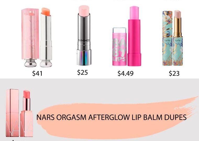 Nars Orgasm Afterglow Lip Balm Dupes