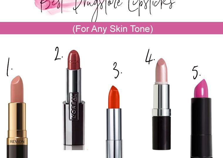Drugstore Lipsticks Skintone Top 5