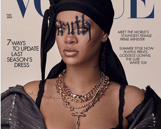Rihanna Skin Care British Vogue