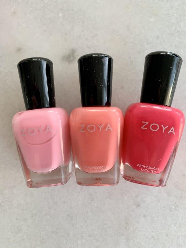 Pink Zoya nail polish swatches