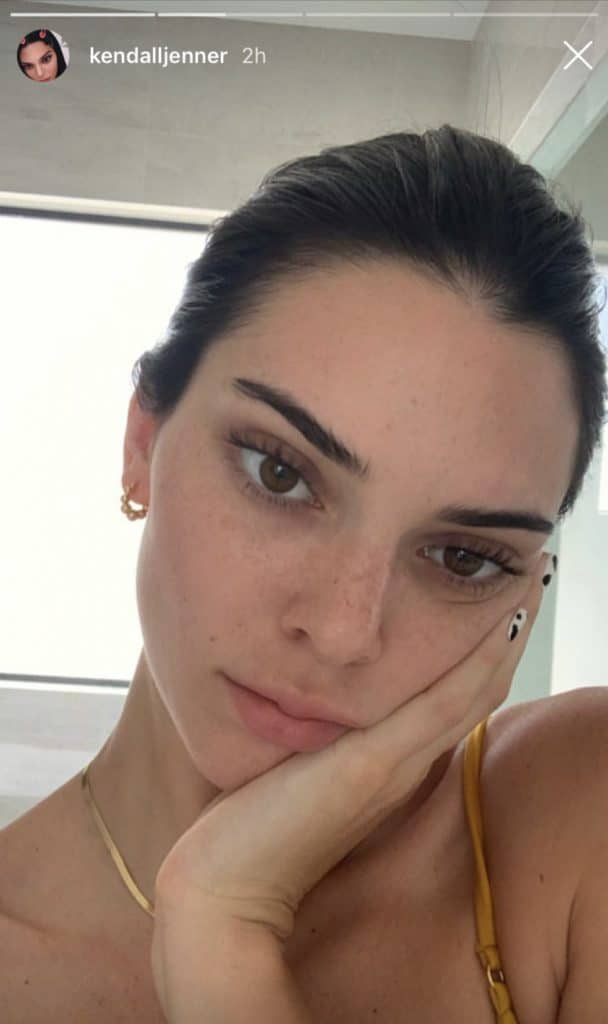 Kendall Jenner without makeup 2021