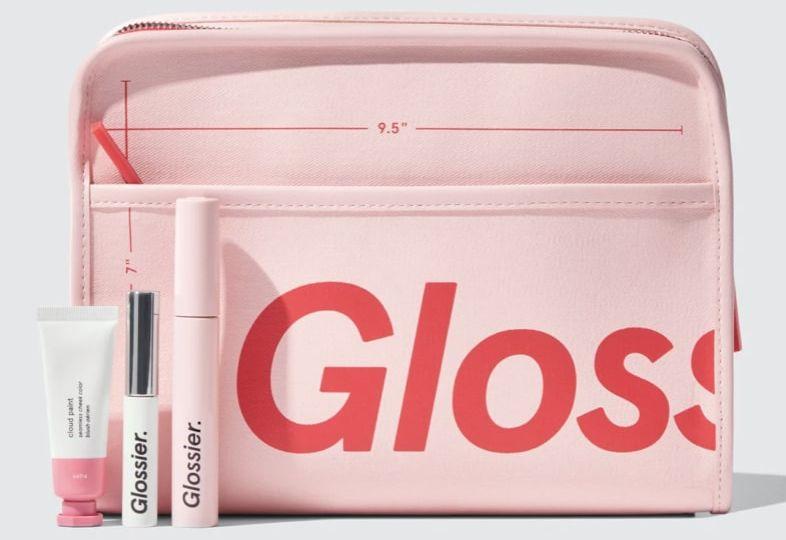 Glossier makeup bag and set 2021