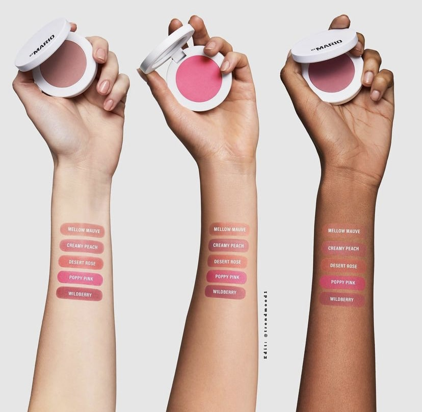 Makeup by Mario soft pop powder blush swatches